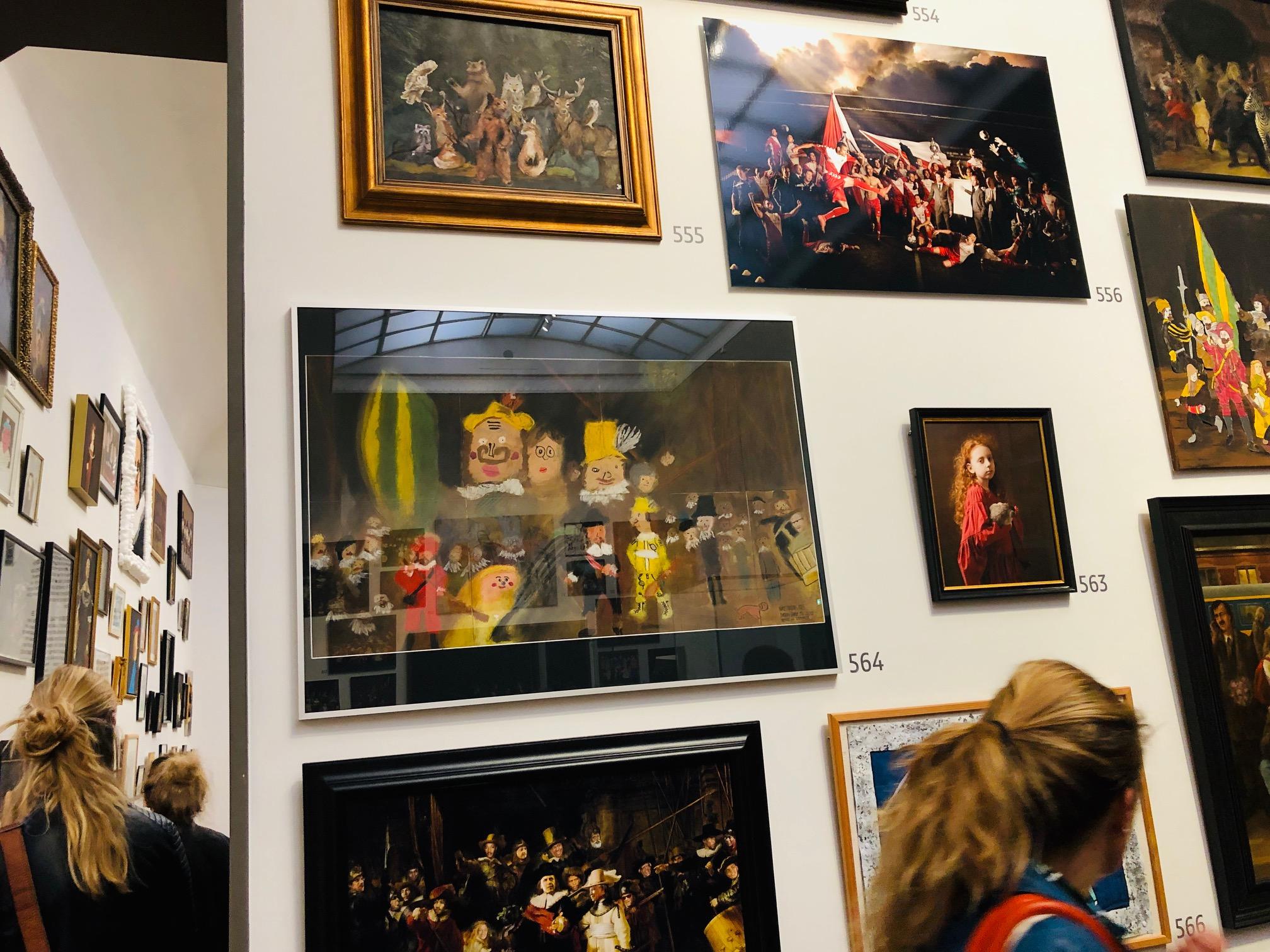 Wie kan zeggen dat je in het Rijksmuseum hangt?